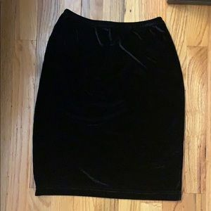 American Apparel Velvet Mini Skirt